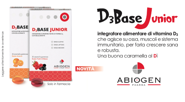 Descrizione caratteristiche integratore alimentare vitamina D3 - D3Base Junior