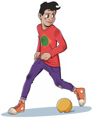 Alan felice con palla - D3Bse Junior